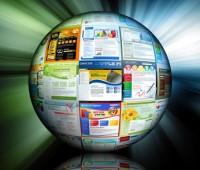 Globus prezentujący strony internetowe