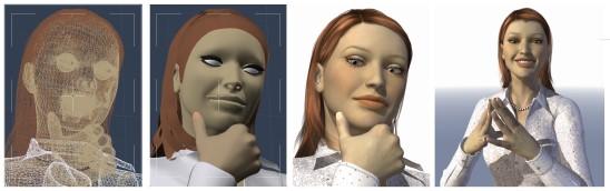 Fotorealistyczna wizualizacja postaci zrealizowana w programie Carrara 7.