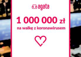 Firma meblowa Agata S.A. przekazuje milion złotych  na walkę z koronawirusem