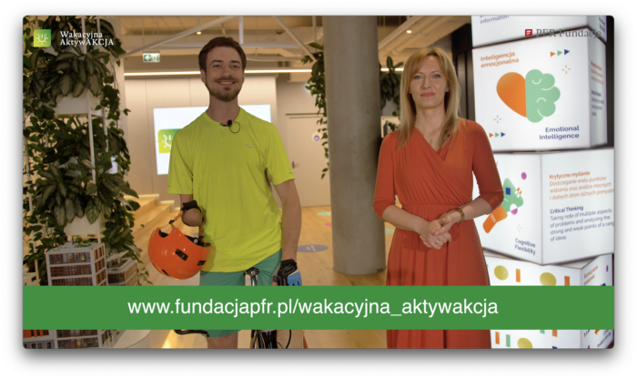 """Jasiek Mela inspiruje organizacje do działania na rzecz dzieci w ramach programu  Fundacji PFR """"Wakacyjna AktywAKCJA"""""""